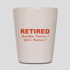 Retired Shot Glass